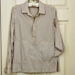 MADEWELL Cotton Popover Striped Tunic